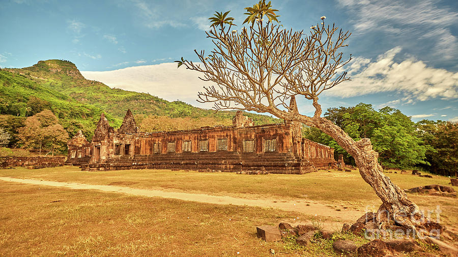 Amazing Photograph - Vat Phou temple complex by MotHaiBaPhoto Prints