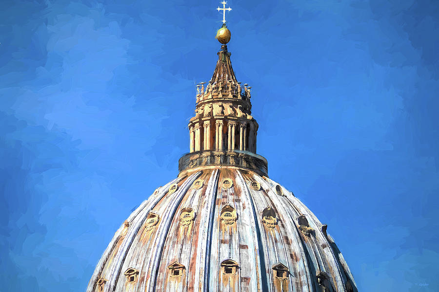 Vatican Dome Inspired by Van Gogh by TONY GRIDER