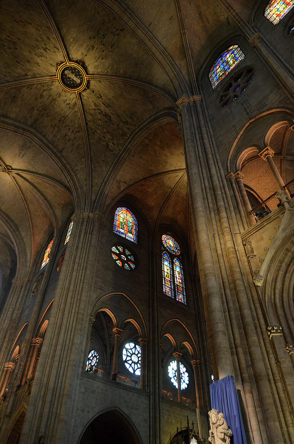 Vaults and stained glass windows of Notre Dame de Paris before the fire of 2019 by RicardMN Photography