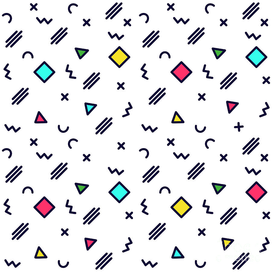 Vector Abstract Geometric Pattern Digital Art by Petersnow