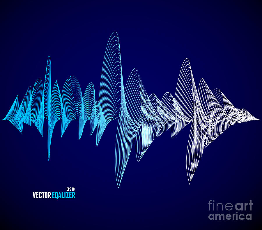 Play Digital Art - Vector Equalizer, Colorful Musical Bar by M.stasy