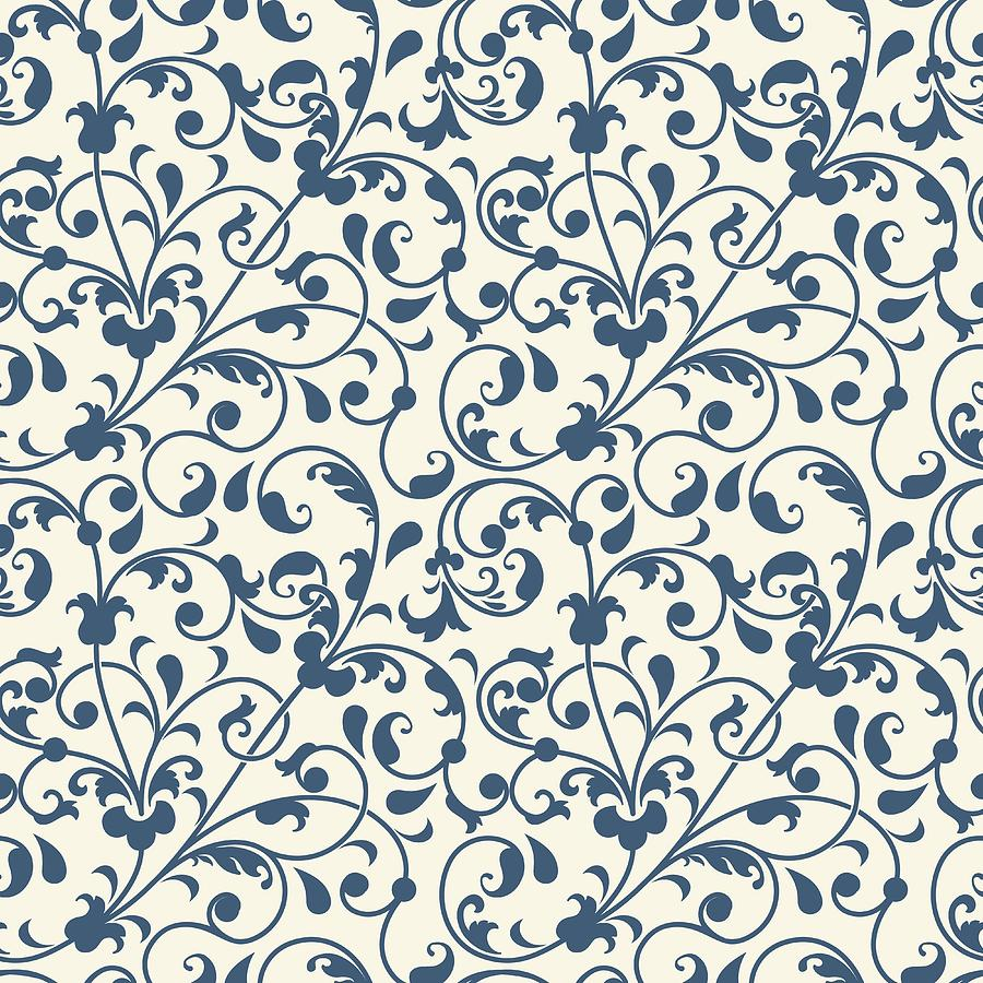 Vector Flower Seamless Pattern Background Elegant Texture For