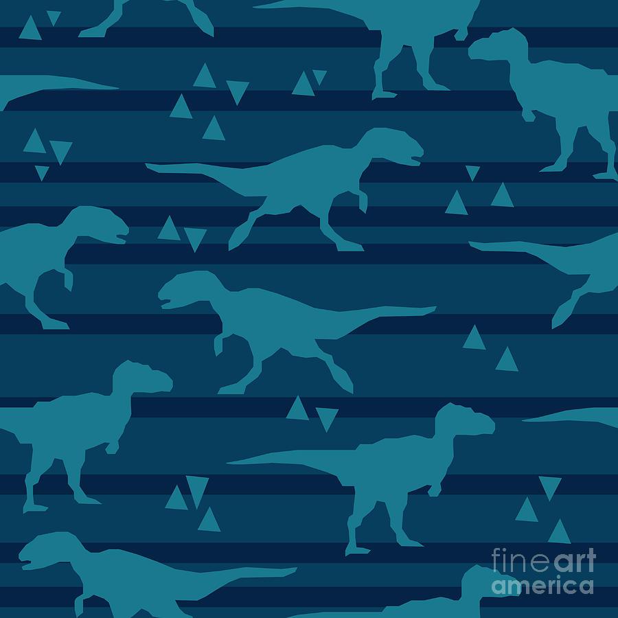 Symbol Digital Art - Vector, Illustration, Dinosaur by Alsu Gizzatullina