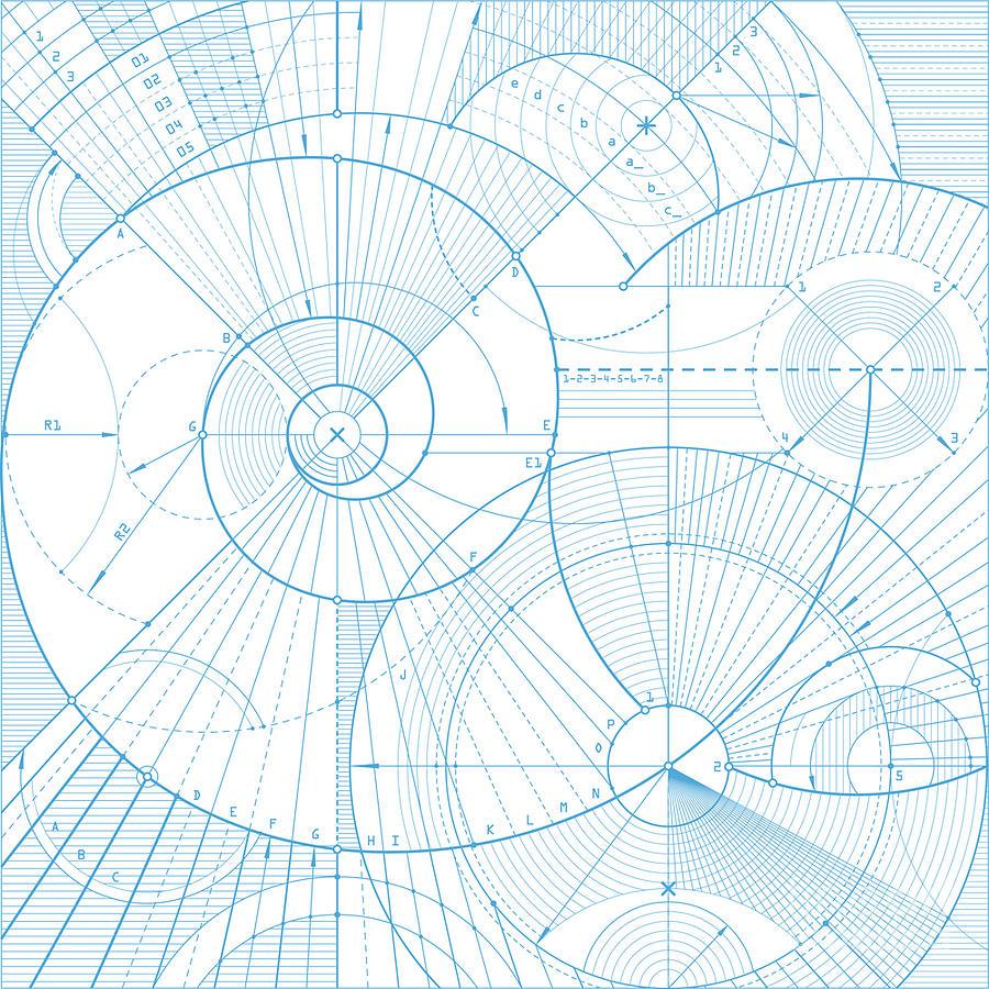Symbol Digital Art - Vector Illustration Of A Technical by Kachan Eduard