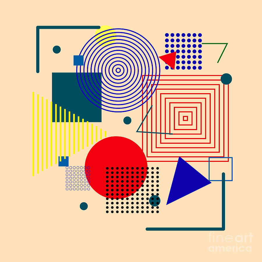 Vector Illustration Of Abstract Digital Art by Anna Tyshchenko