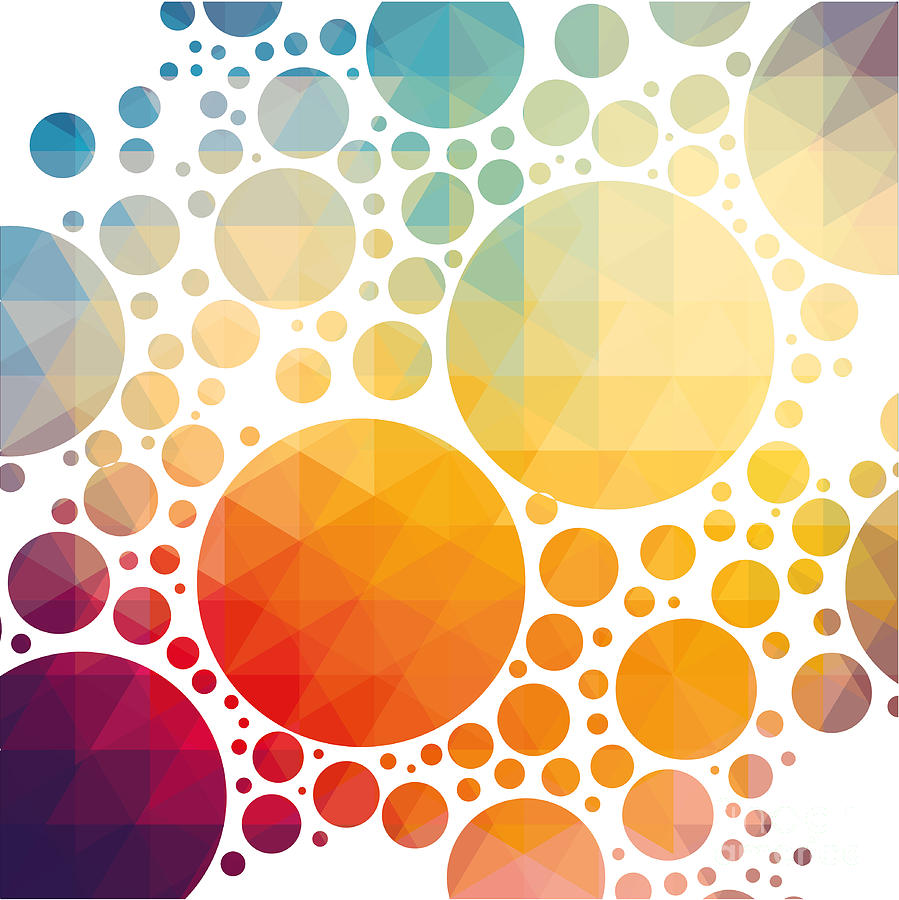 Color Digital Art - Vector Illustration Of Colorful by Artem Kovalenco
