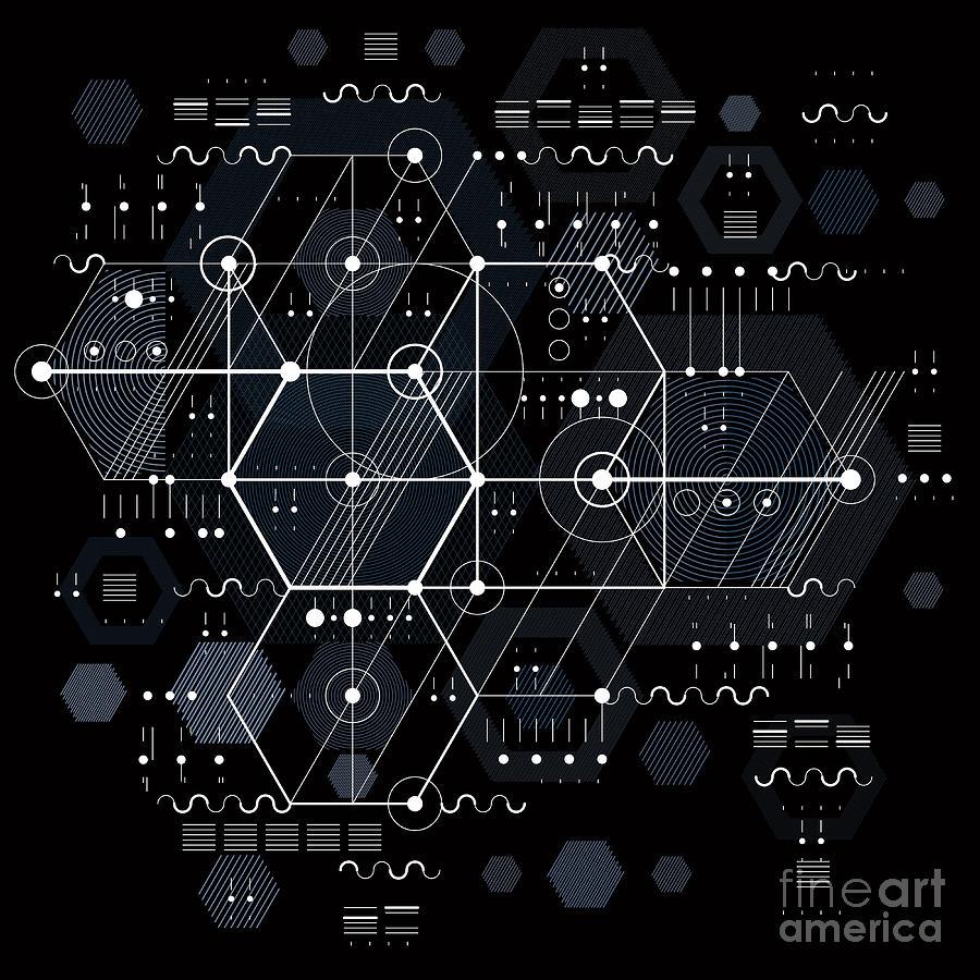 Dashed Digital Art - Vector Industrial And Engineering by Sylverarts Vectors