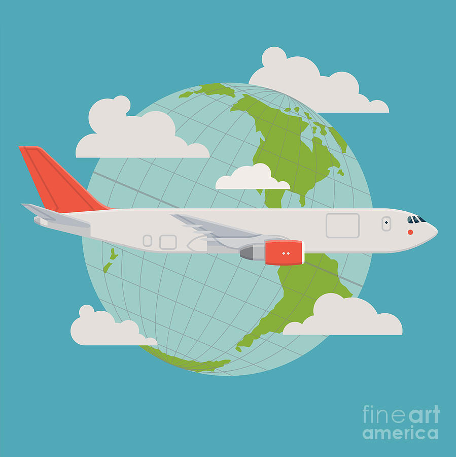 Plane Digital Art - Vector Modern Delivery Web Icon On by Mascha Tace