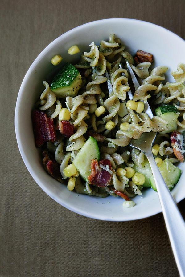 Vegetable And Pasta Salad Photograph by Karen Beard