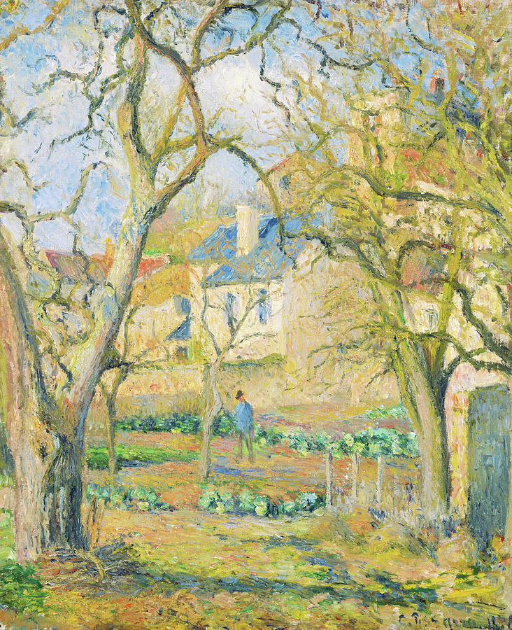 Camille Pissarro Painting - Vegetable Garden - Digital Remastered Edition by Camille Pissarro