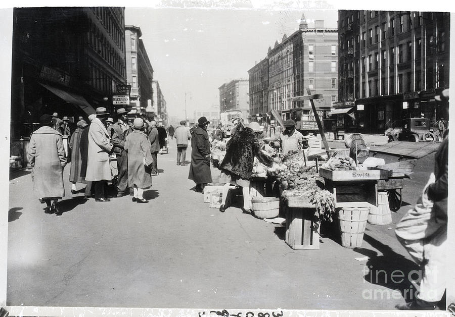 Vegetable Stands In Harlem Photograph by Bettmann