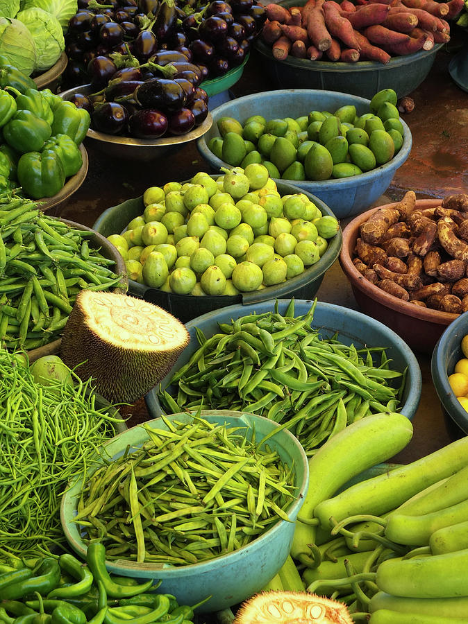 Vegetables In Market, India Photograph by Adrian Pope