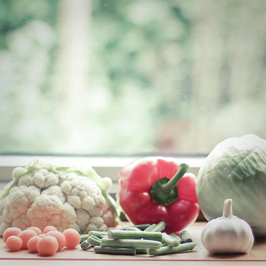 Vegetables In The Kitchen, Ready To Be Photograph by Cindy Prins