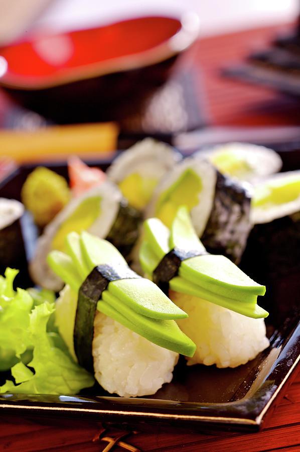 Vegetarian Sushi Photograph by Shyman