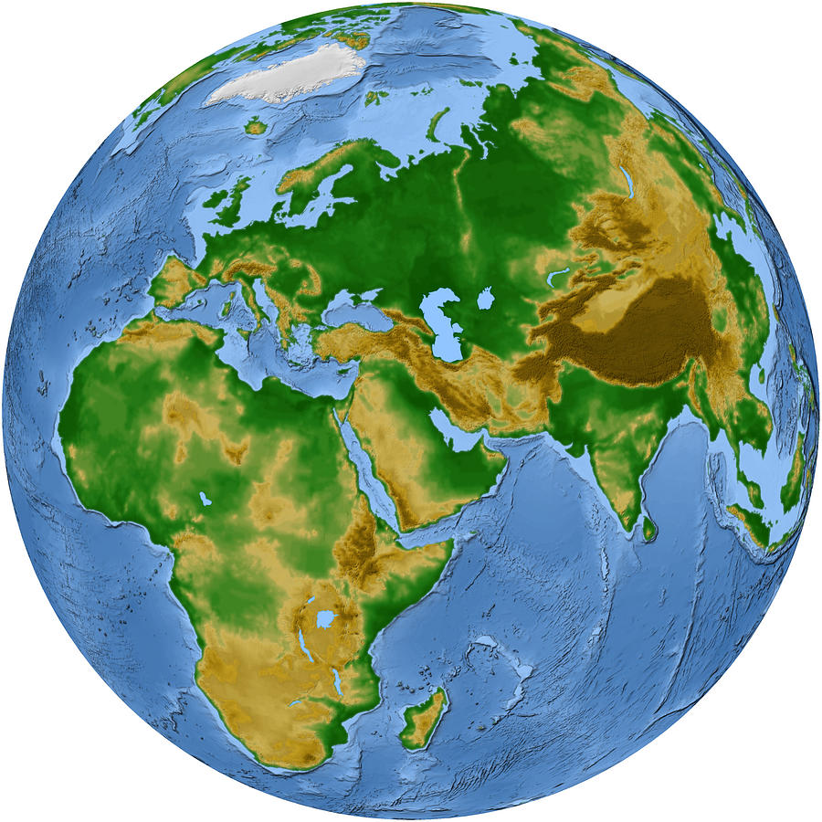Vegetation Map -- Africa And Eurasia Photograph by Cartesia