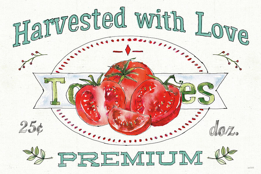 Advertisements Painting - Veggie Market I by Anne Tavoletti