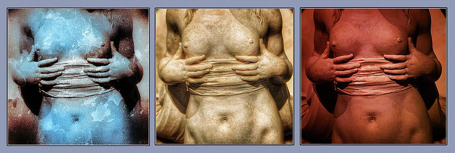 Ancient Midriff Triptych  by Phil Cardamone