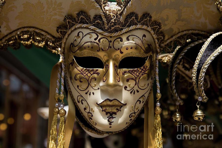 Venecian Carnival Mask Xl Photograph by Sebastian-julian