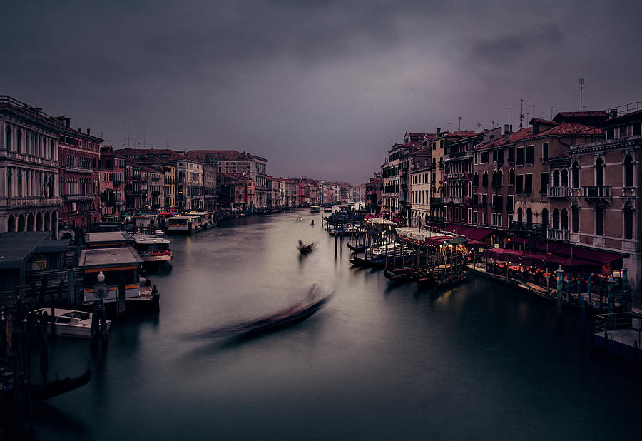Venetian Evening at Rialto by Suleyman Derekoy