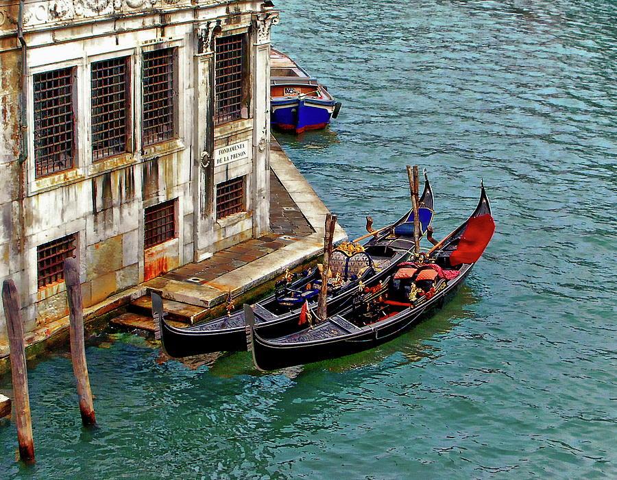 Venetian Gondolas by Anthony Dezenzio