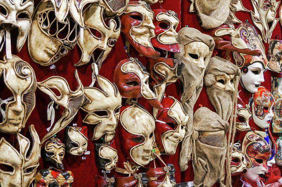 Venice Photograph - Venetian Masks by Richard A Brown