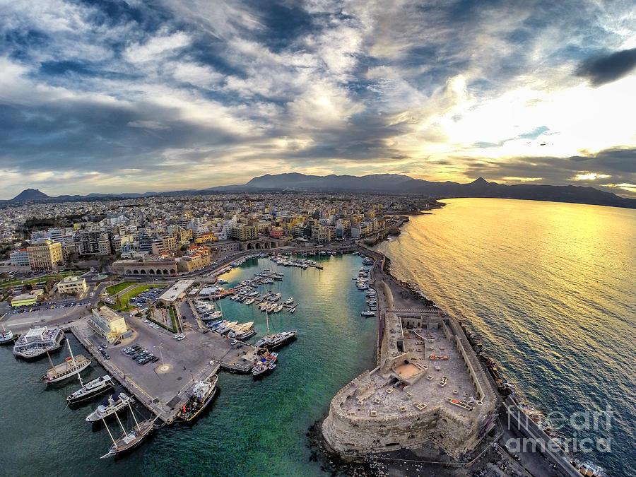 Harbour Photograph - Venetian Port by Giorgos Thalassinos