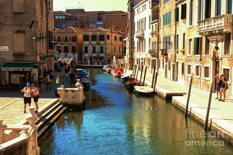 Venetian streets-canals at noon by Marina Usmanskaya