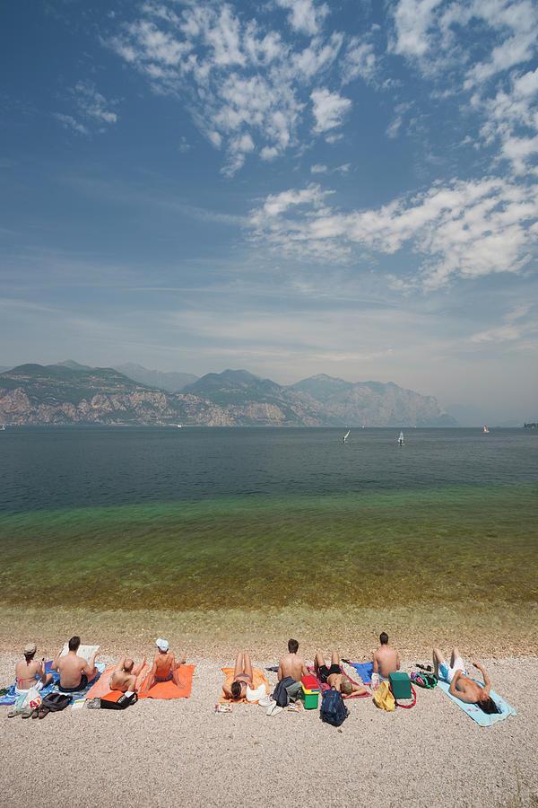 Veneto, Italy, Beach View Photograph by Walter Bibikow