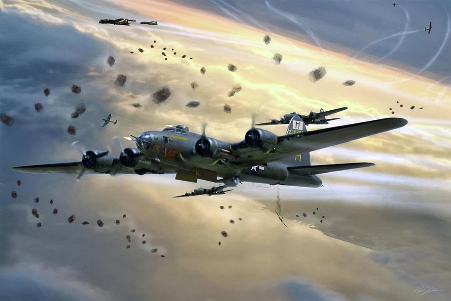 B-17 Digital Art - Veni Vidi Vici by Peter Chilelli