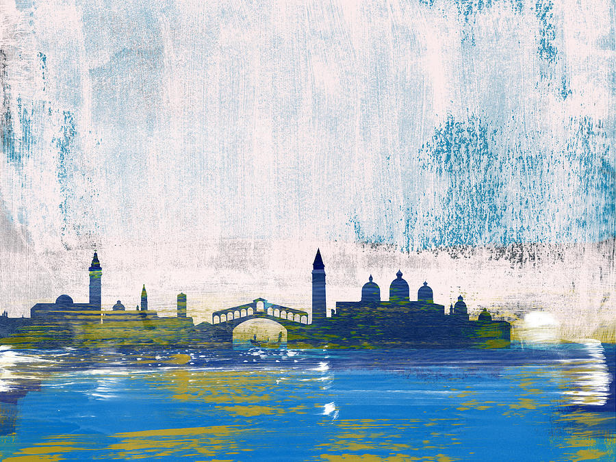 Venice Mixed Media - Venice Abstract Skyline I by Naxart Studio