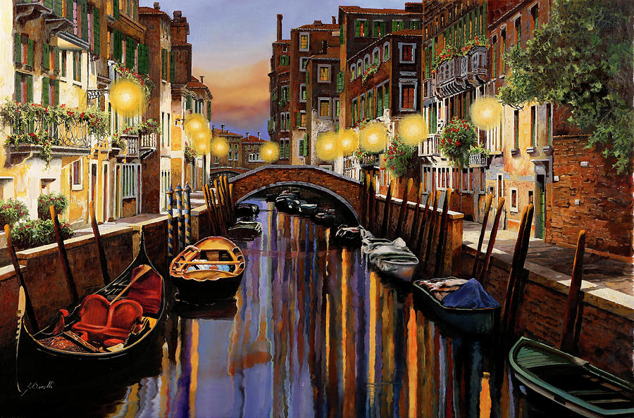 Venice At Dusk Painting
