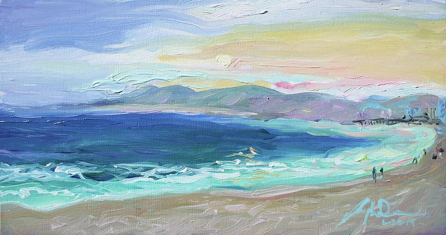 Plein Air Painting - Venice Beach CA by Joseph Demaree