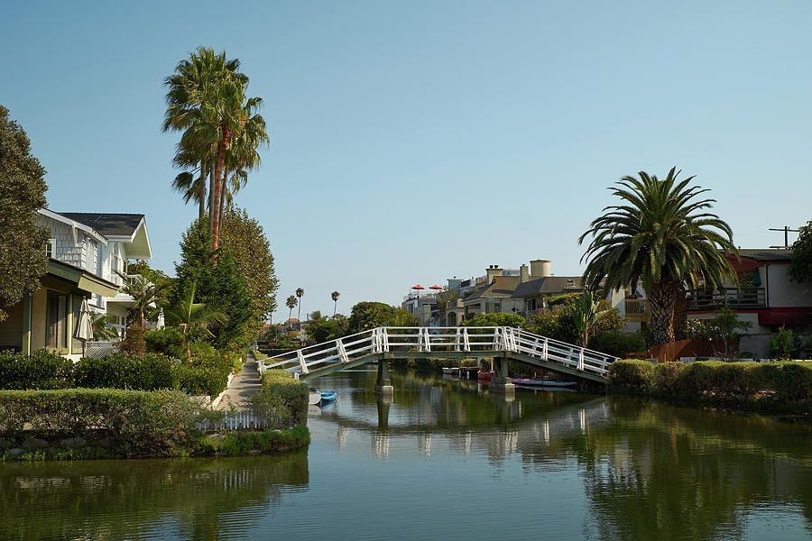 Venice California Houses And Canals Photograph by Steve Lewis Stock