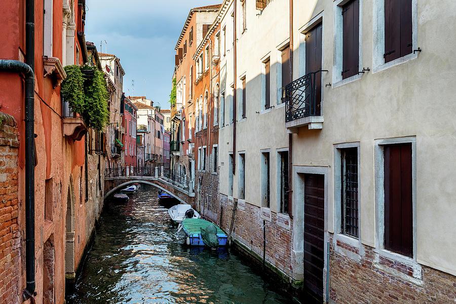 Venice Photograph - Venice canal by Andrei Dima
