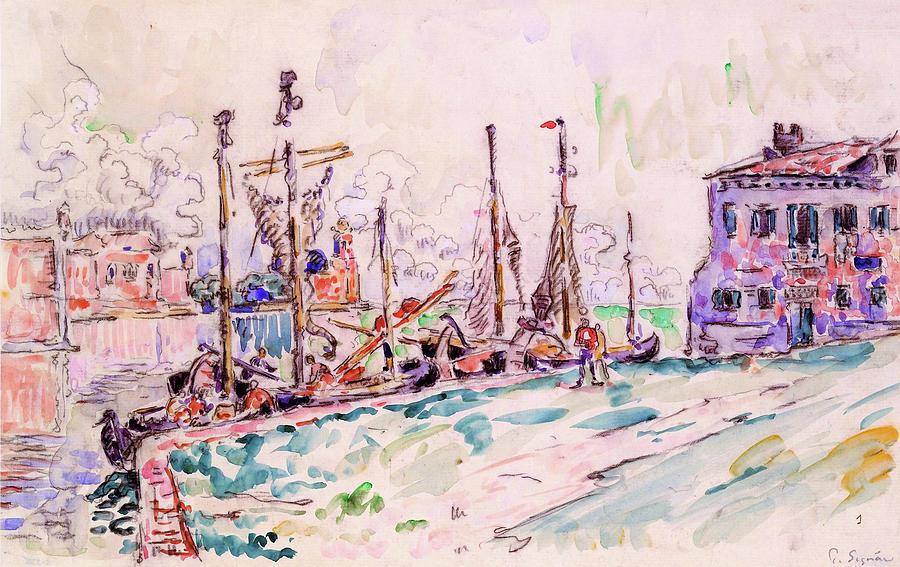 Paul Signac Painting - Venice - Digital Remastered Edition by Paul Signac