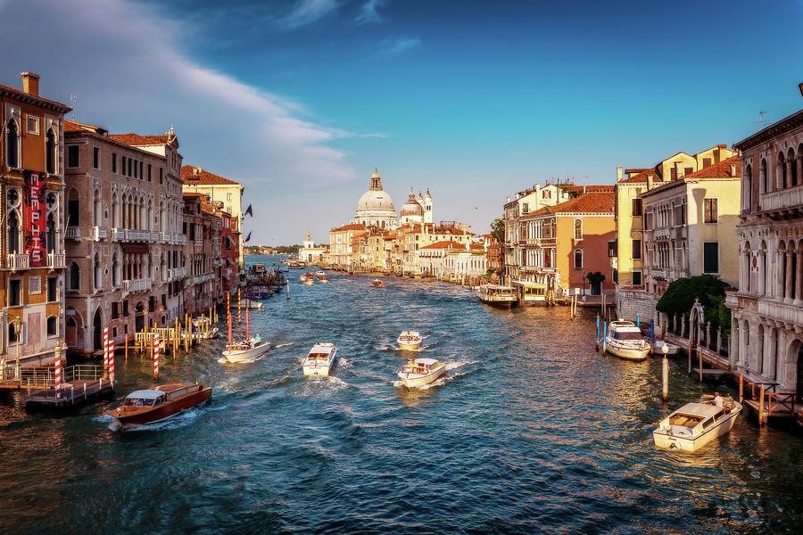 Venice Photograph - Venice golden hour by Andrei Dima
