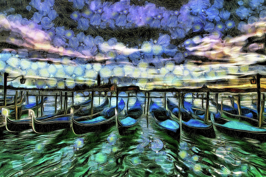 Venice Gondolas by Mad Artist