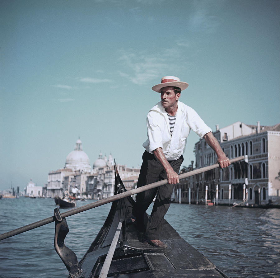 Venice Gondolier Photograph by Slim Aarons
