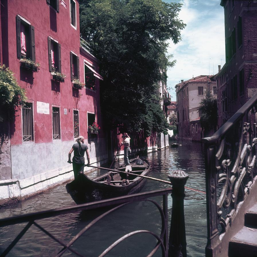Venice Gondoliers Photograph by Slim Aarons