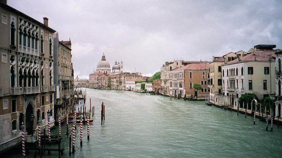 Europe Photograph - Venice Grand Canal by Dick Goodman