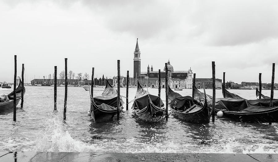 Venice Grand Canal Gondolas  by Georgia Fowler