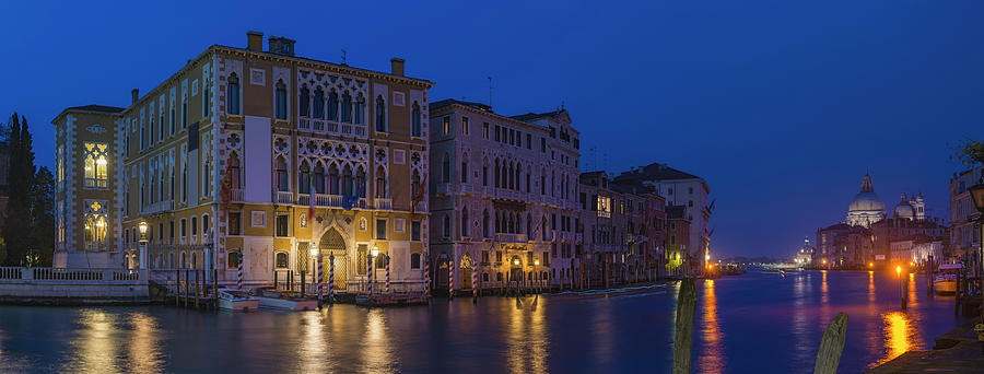 Venice Grand Canal Palazzo Villas Photograph by Fotovoyager