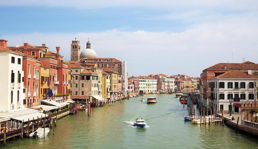 Venice Grand Canal Scene, Veneto Italy Photograph by Romaoslo