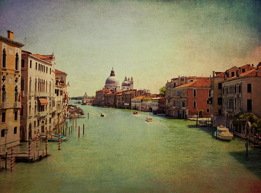 View Photograph - Venice, Italy - Grand Canal And The Baroque Domes Of Sai by Luisa Vallon Fumi