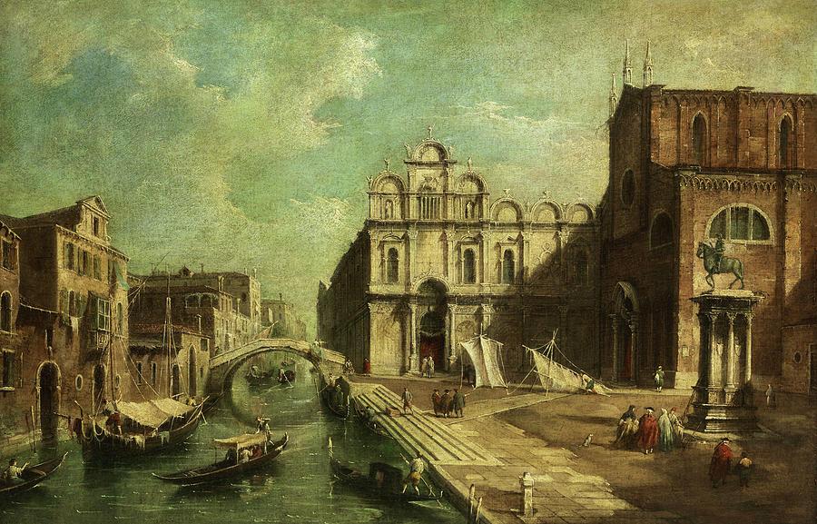 Venice Painting - Venice, Scuola Grande Di San Marco by Giovanni Migliara