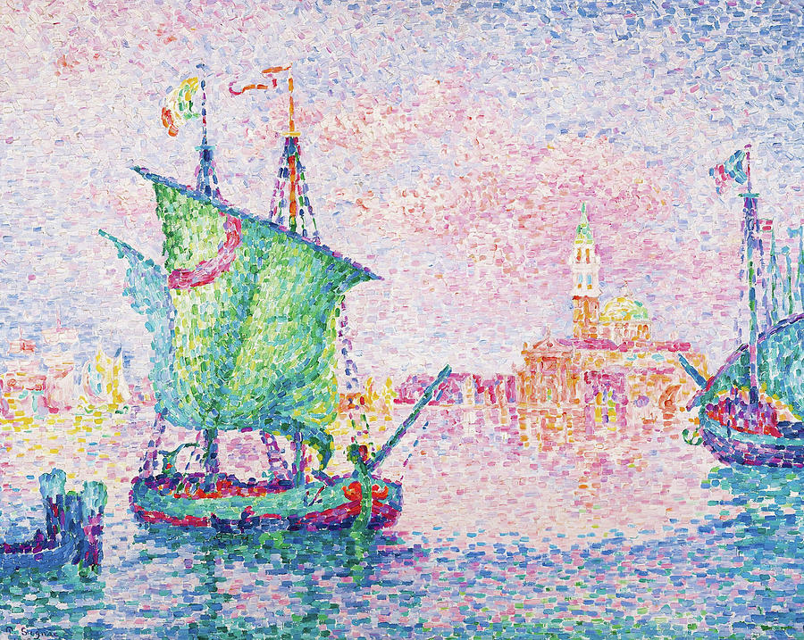 Paul Signac Painting - Venice, The Pink Cloud - Digital Remastered Edition by Paul Signac