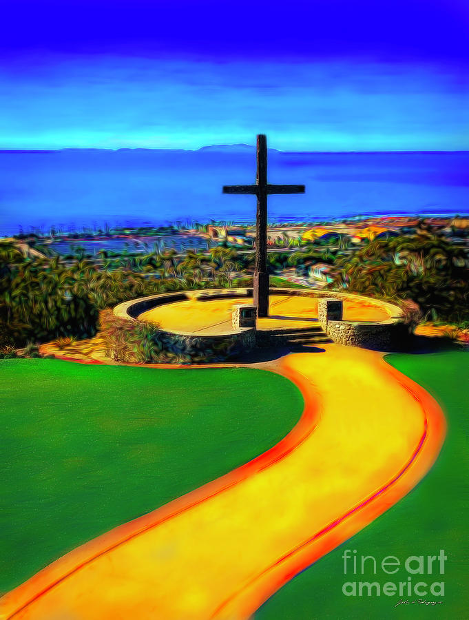 Ventura California Cross and Anacapa Island by John A Rodriguez