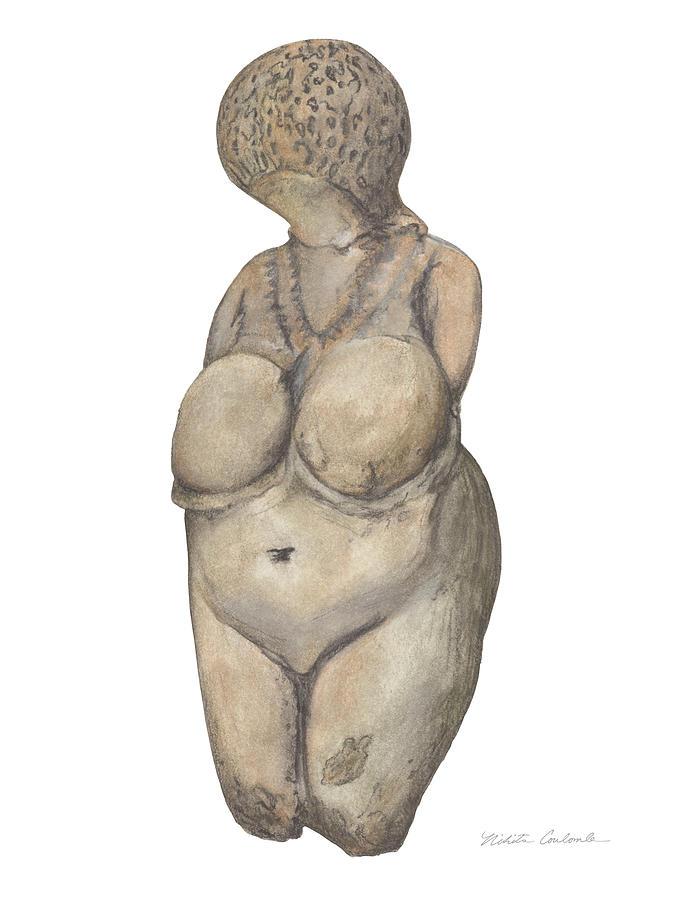 Venus Drawing - Venus Of Kostenski by Nikita Coulombe