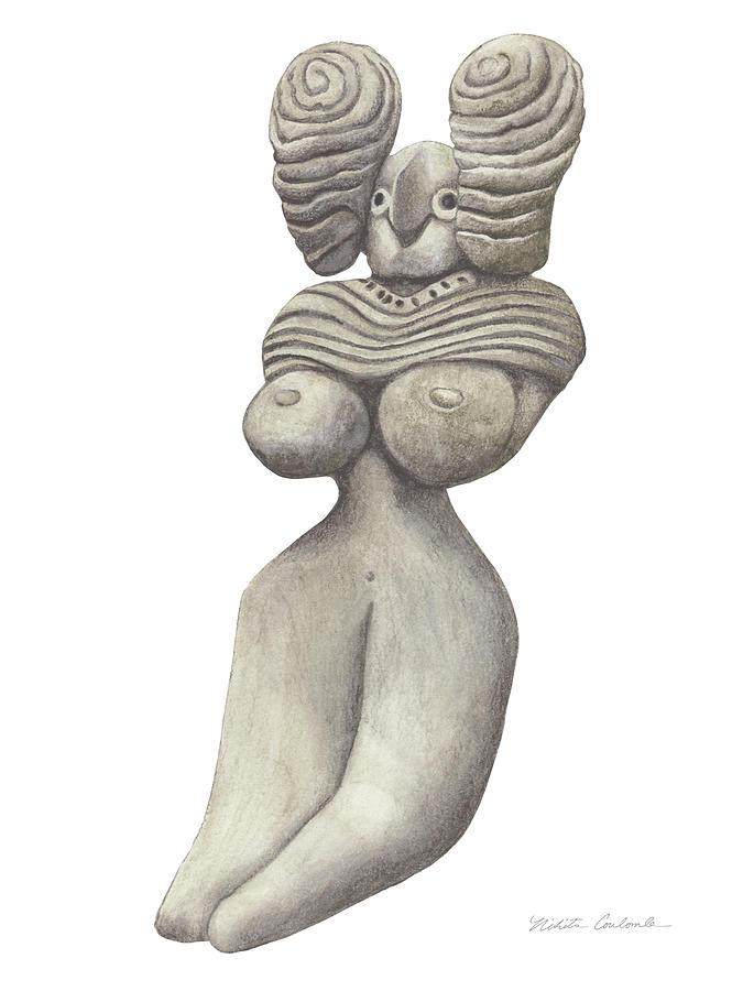 Venus Drawing - Venus Of Merhgargh by Nikita Coulombe