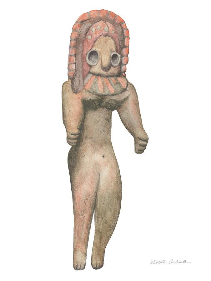 Venus Drawing - Venus Of The Indus Valley by Nikita Coulombe